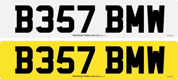 B357 BMW number plate