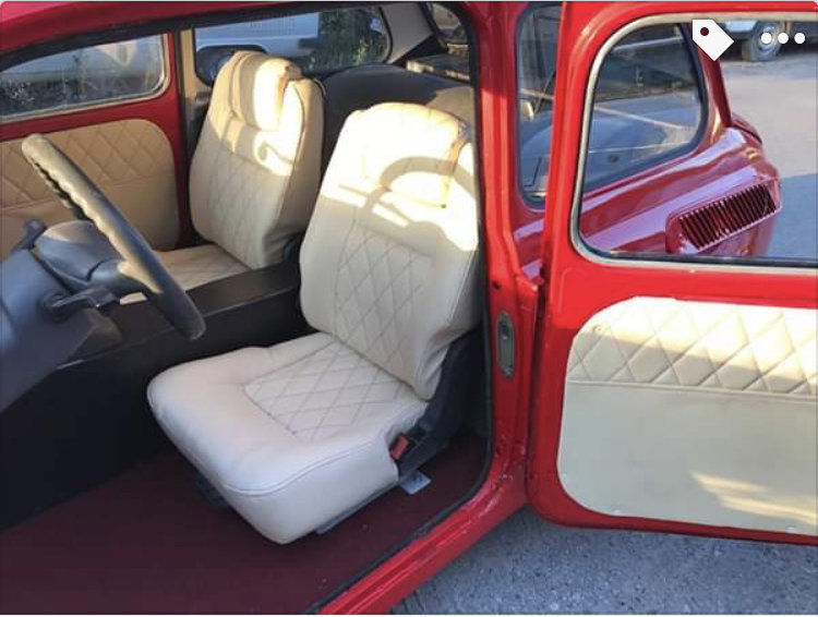 1968 FIAT 500copy Zaz 965 custom made from scratch For Sale (picture 5 of 6)