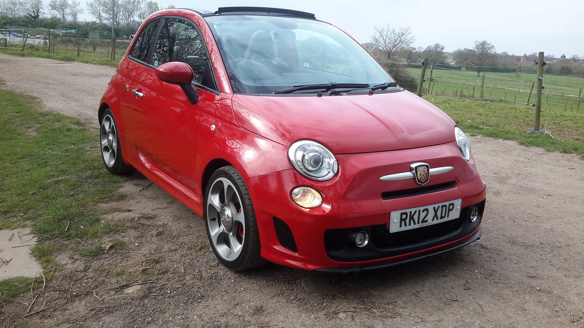 2012 ABARTH 500C CONVERTIBLE 1.4 140 bhp 48000 MILES For Sale (picture 1 of 6)