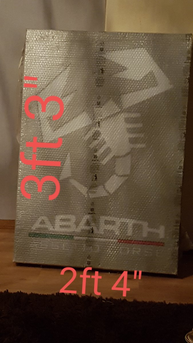Genuine Abarth Dealership light up sign For Sale (picture 1 of 3)