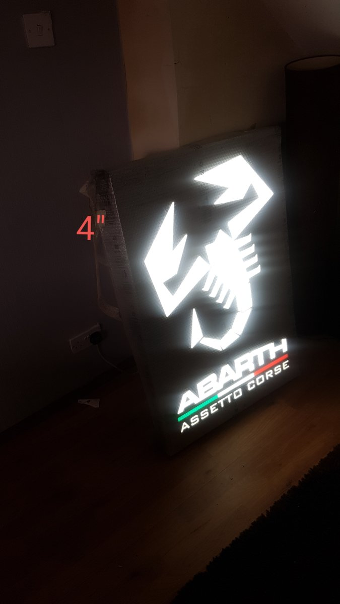 Genuine Abarth Dealership light up sign For Sale (picture 2 of 3)