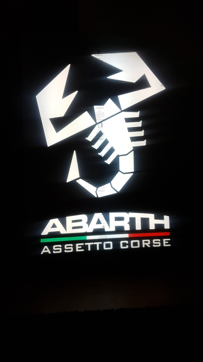 Genuine Abarth Dealership light up sign For Sale (picture 3 of 3)