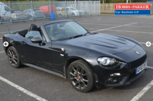 Abarth 124 Spider Scorpione Multiair 16834 Miles for auction