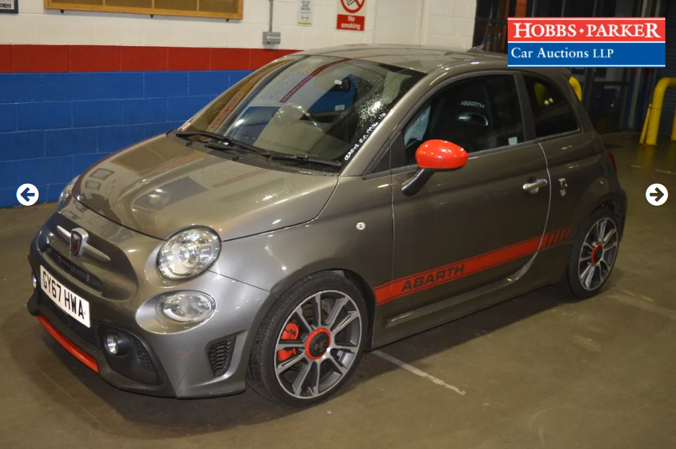 2017 Abarth 595 Turismo 20,889 Miles for auction 25th SOLD by Auction (picture 1 of 5)