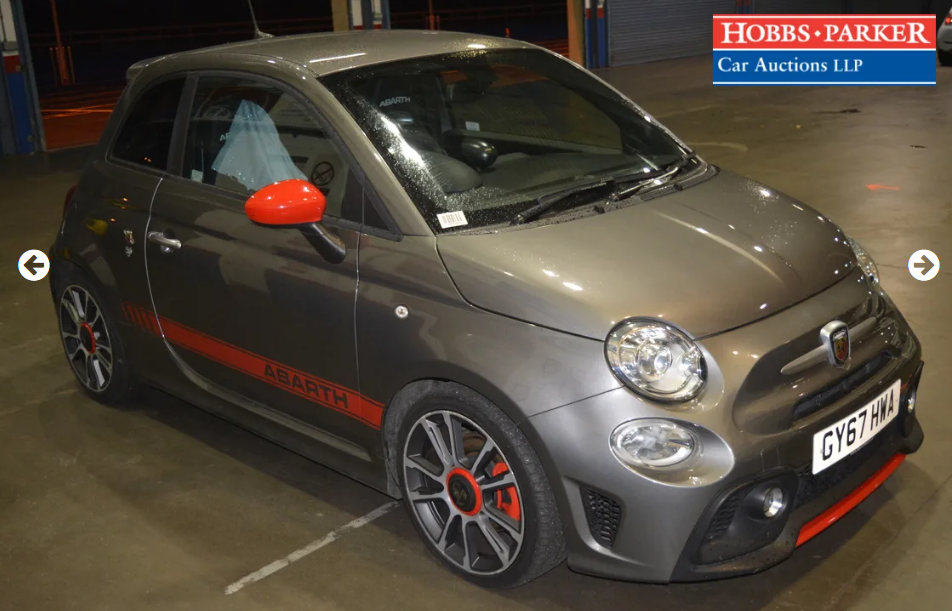 2017 Abarth 595 Turismo 20,889 Miles for auction 25th SOLD by Auction (picture 4 of 5)