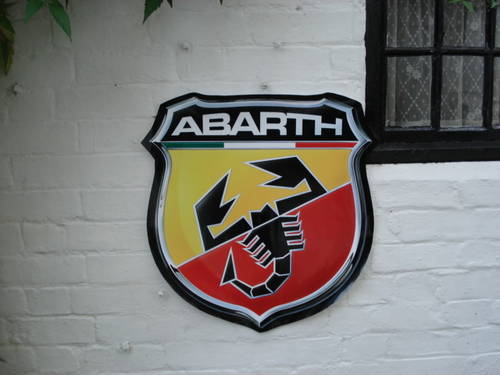 Repro 66cm ABARTH garage wall sign For Sale (picture 1 of 2)