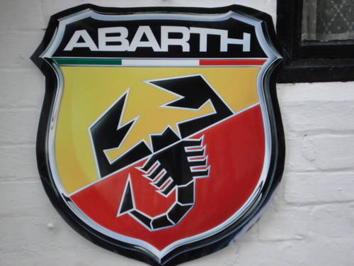 Repro 66cm ABARTH garage wall sign For Sale (picture 2 of 2)