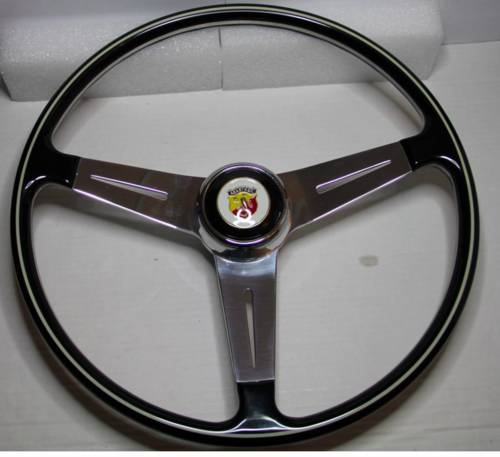 1970 CLASSIC FIAT ABARTH 1000TC 750 DOUBLE BUBBLE STEERING WHEEL For Sale (picture 1 of 3)