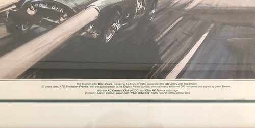 1959 Class Winning AC Ace Bristol at Le Mans Ltd Edition Print For Sale (picture 2 of 4)