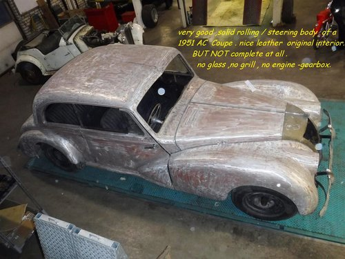 1951 AC coupe RHD project to restore For Sale (picture 5 of 5)