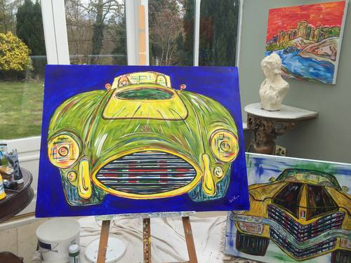 Limited edition signed and numbered print: 1969 AC Cobra  For Sale (picture 2 of 6)