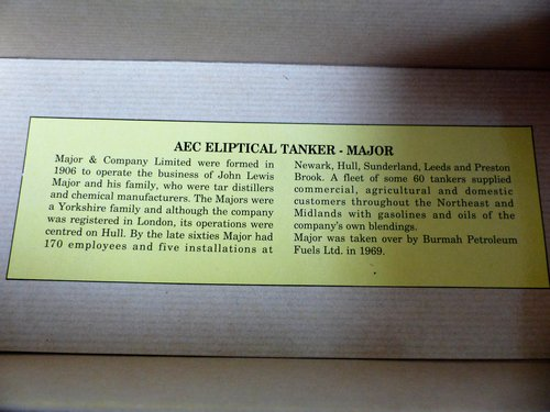 AEC ELIPTICAL TANKER-MAJOR-1:50 SCALE MODEL For Sale (picture 5 of 5)