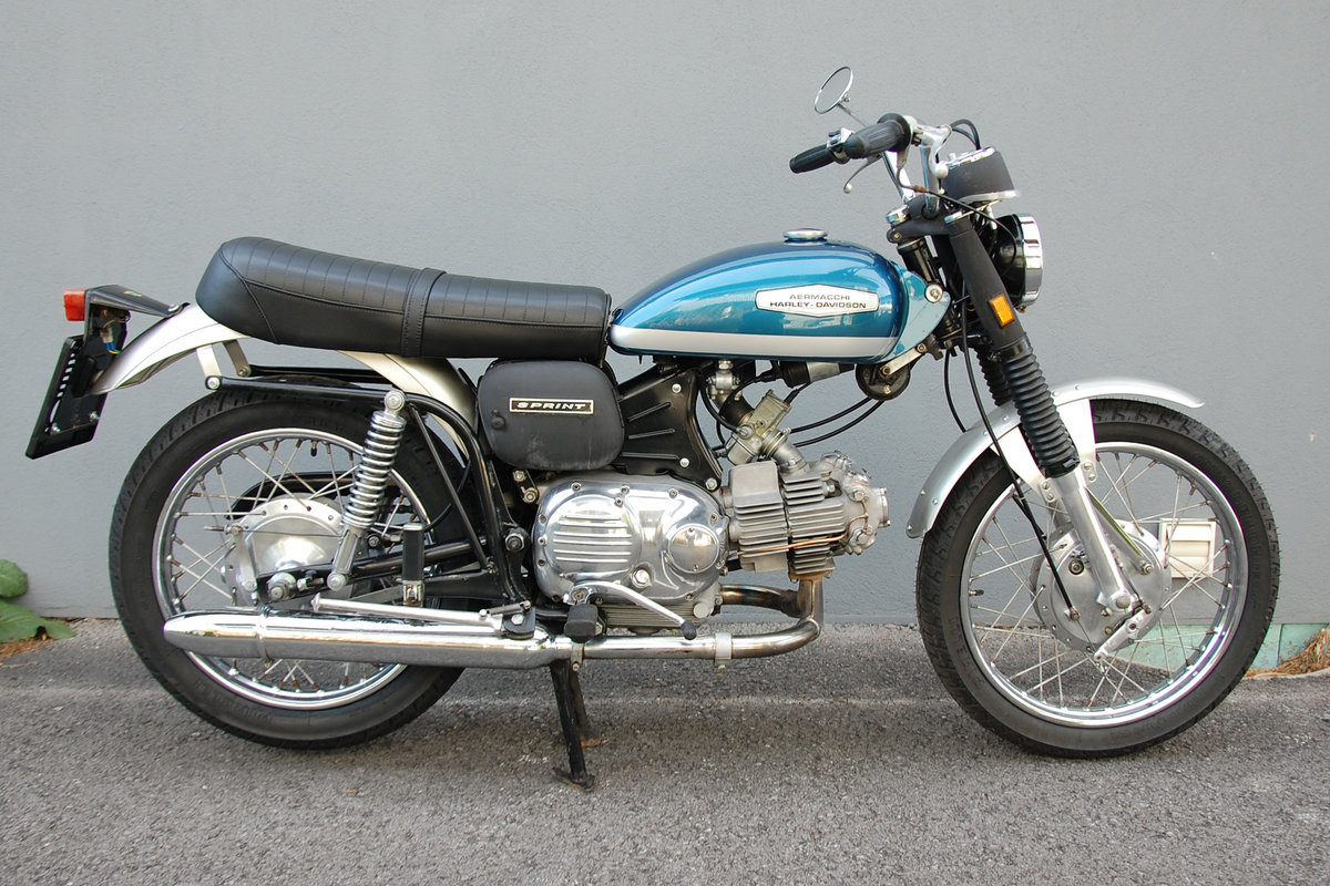 1972 Aermacchi-Harley Davidson 350 Sprint, mint condition. For Sale (picture 1 of 6)