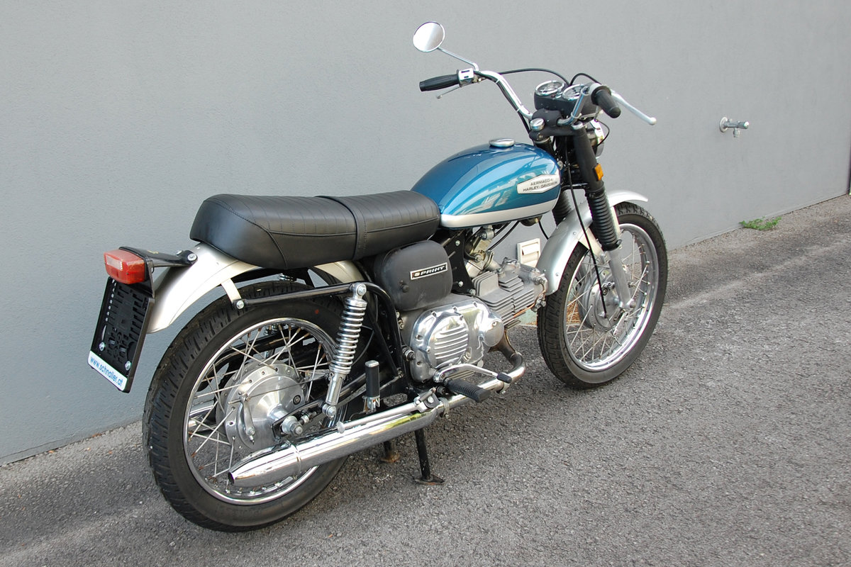 1972 Aermacchi-Harley Davidson 350 Sprint, mint condition. For Sale (picture 3 of 6)