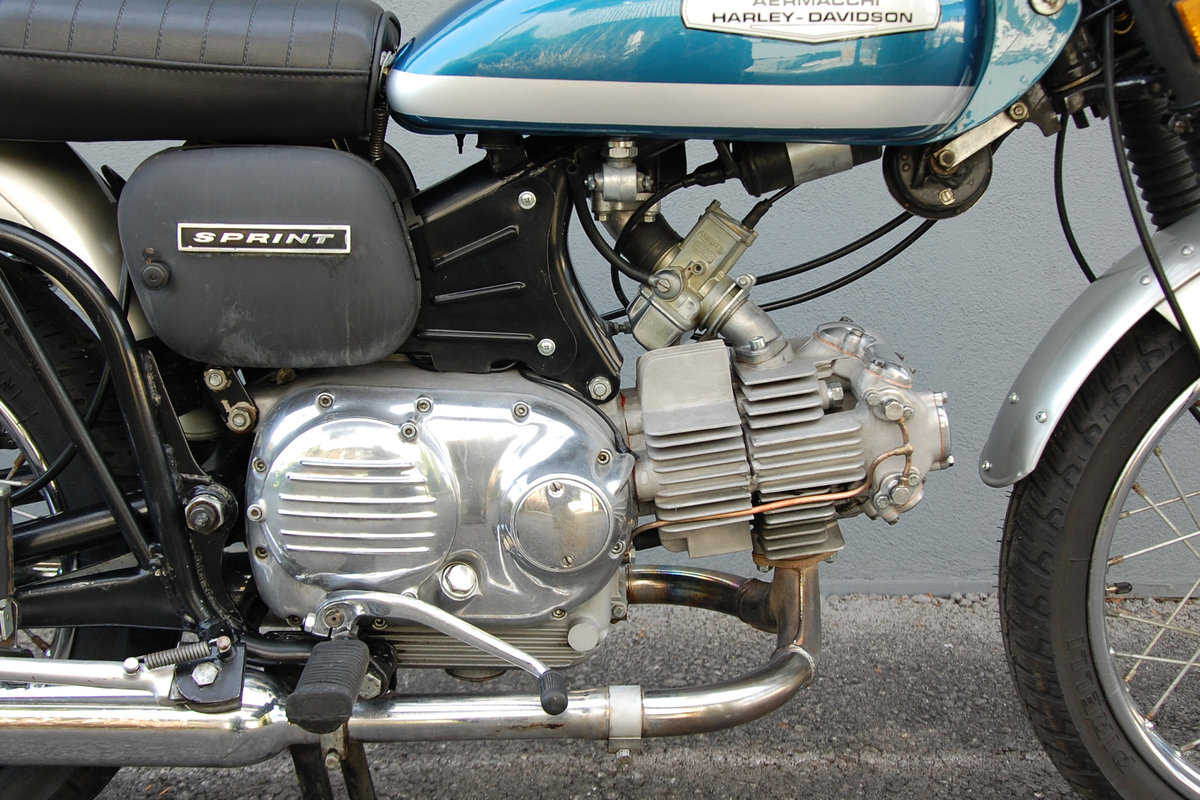 1972 Aermacchi-Harley Davidson 350 Sprint, mint condition. For Sale (picture 5 of 6)