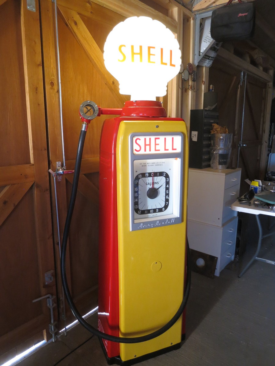 Avery Hardoll 1950's restored Shell petrol pump For Sale (picture 5 of 6)