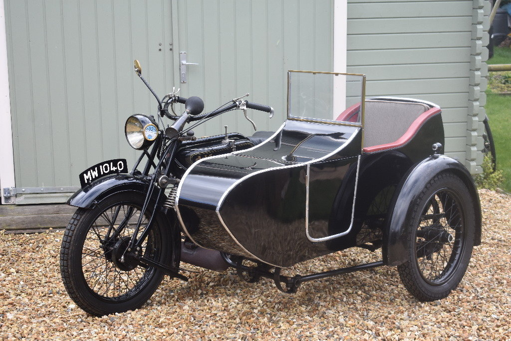 A 1927 AJV V Twin combination - 01/06/219 For Sale by Auction (picture 1 of 6)