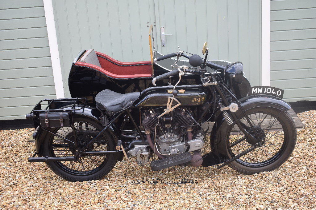 A 1927 AJV V Twin combination - 01/06/219 For Sale by Auction (picture 2 of 6)