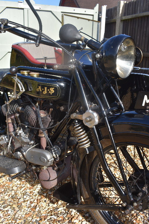 A 1927 AJV V Twin combination - 01/06/219 For Sale by Auction (picture 5 of 6)