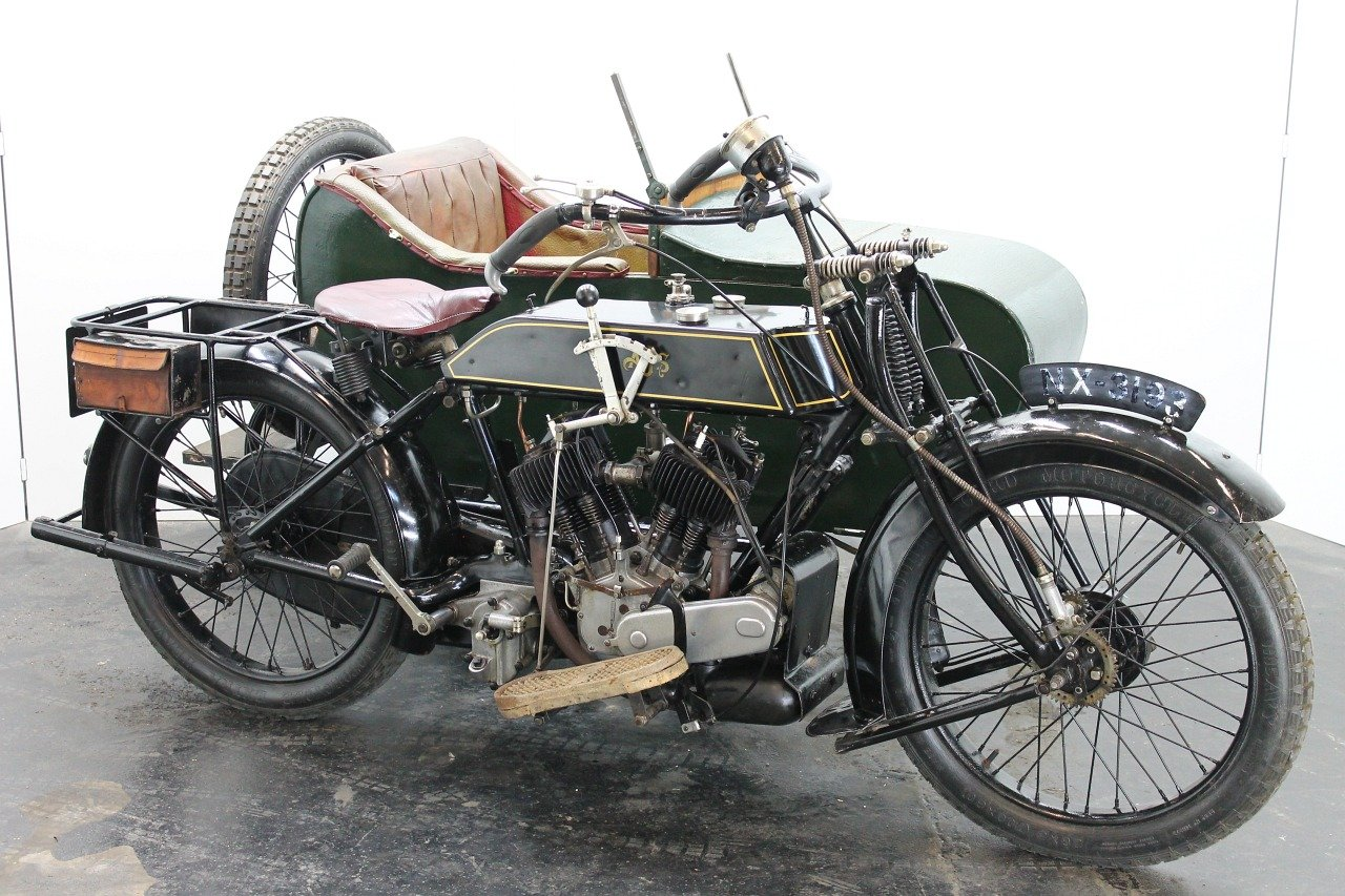 AJS Model D Combination 1924 800cc 2 cyl sv For Sale (picture 1 of 6)
