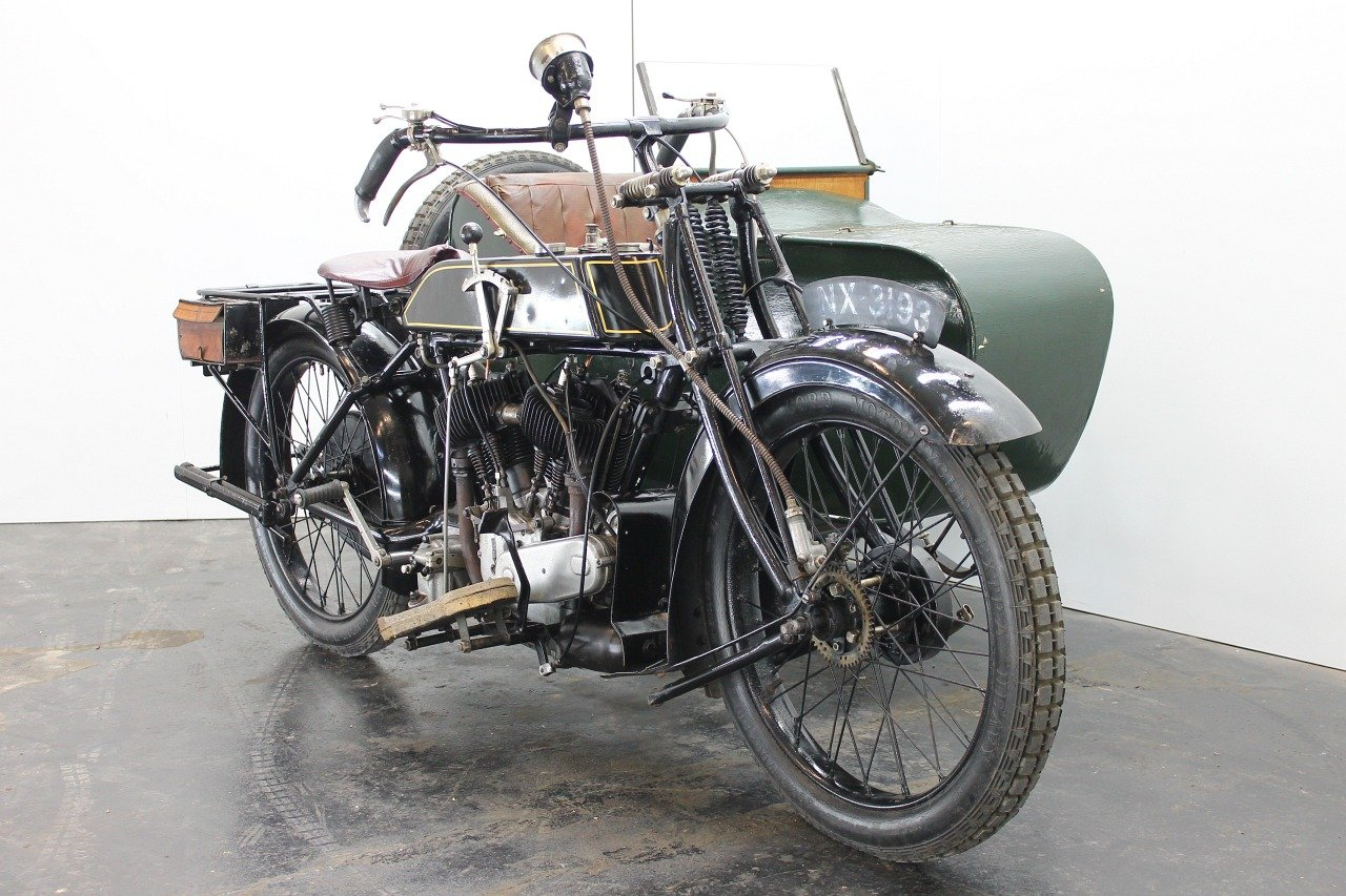 AJS Model D Combination 1924 800cc 2 cyl sv For Sale (picture 2 of 6)