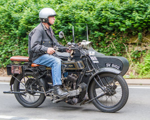 1921 AJS Model D and sidecar For Sale