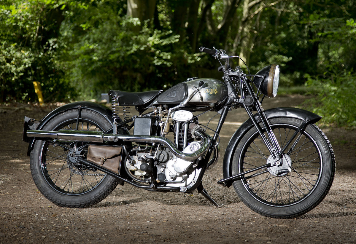 1935 AJS 250 Twinport with super patina Lovely original SOLD (picture 1 of 6)