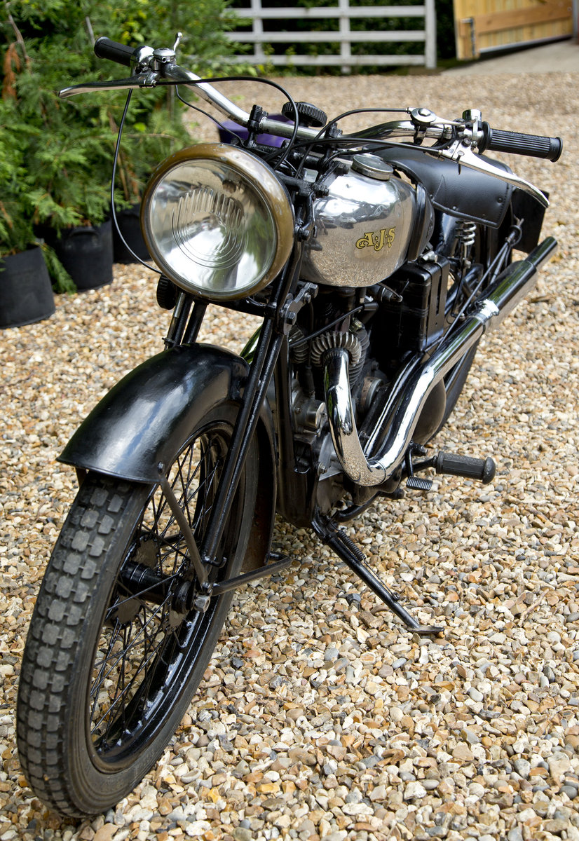 1935 AJS 250 Twinport with super patina Lovely original SOLD (picture 5 of 6)