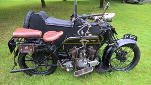 1921 AJS Model D and sidecar
