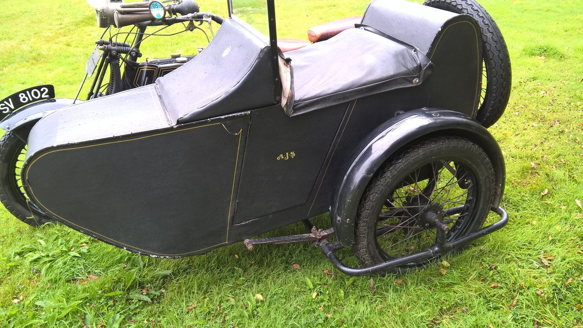 1921 AJS Model D and sidecar SOLD (picture 2 of 6)