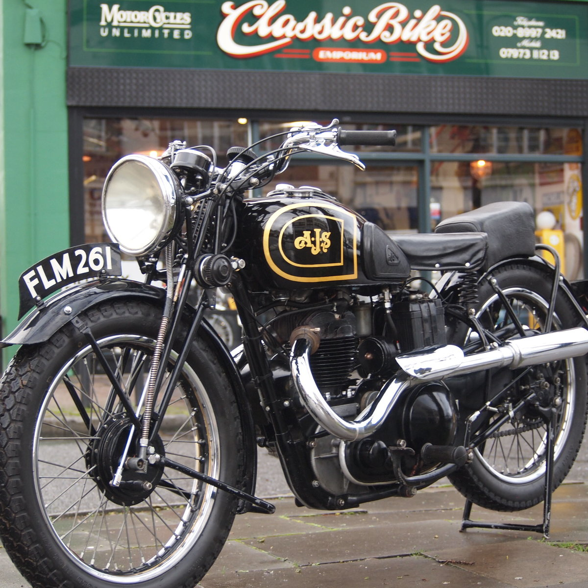 1938 AJS 350 Model 26 In Very Usable Condition. SOLD (picture 1 of 6)