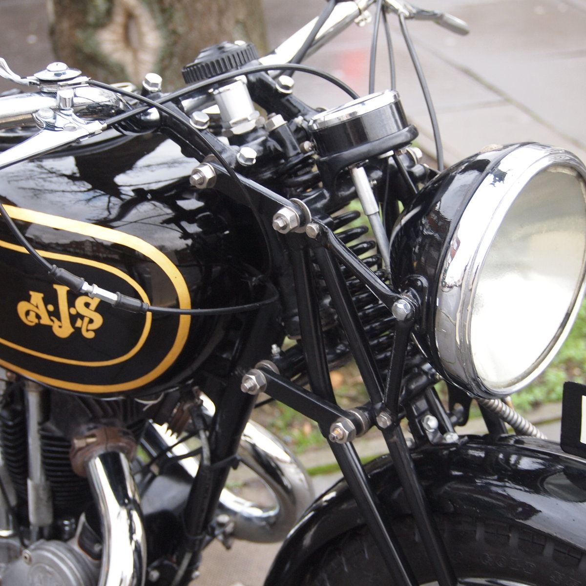 1938 AJS 350 Model 26 In Very Usable Condition. SOLD (picture 2 of 6)
