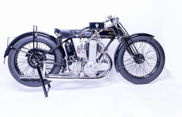 1928 AJS 349CC K7 RACING MOTORCYCLE (LOT 402) SOLD by Auction (picture 1 of 1)