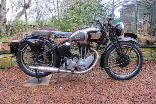 C.1937 AJS 347CC MODEL 26 (LOT 423) SOLD by Auction (picture 1 of 1)