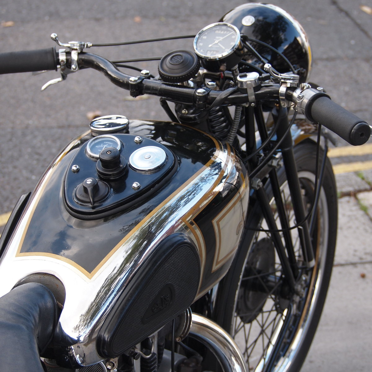 1937 AJS 350 Model 26 Vintage. RESERVED FOR ADAM. For Sale (picture 4 of 6)