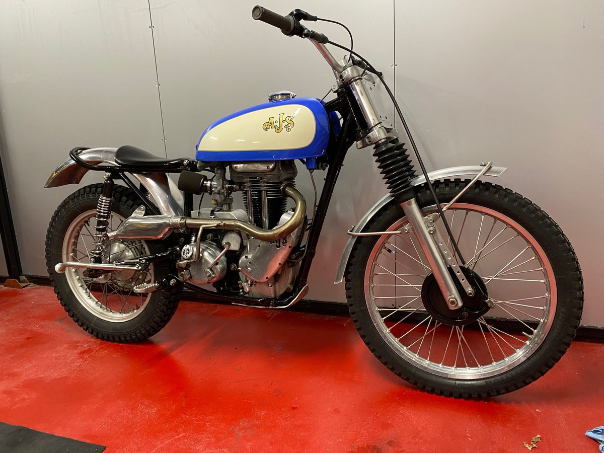 1959 AJS MATCHLESS TRIAL TRAIL ACE BIKE ROAD REGD + V5 ONO PX ? For Sale (picture 1 of 6)