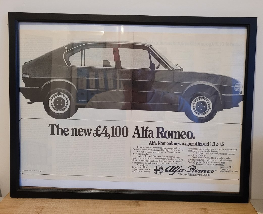 Picture of 1985 Original 1980 Alfasud Framed Advert