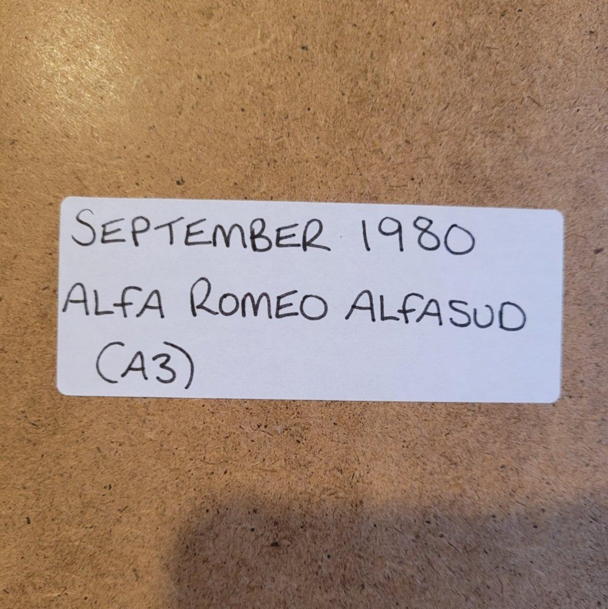 1985 Original 1980 Alfasud Framed Advert For Sale (picture 2 of 3)