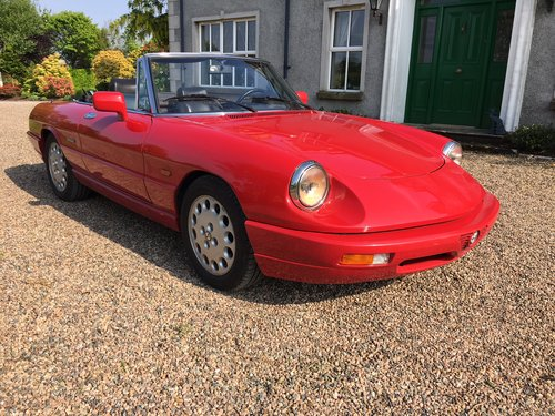 1993 Alfa Romeo Spider S4, LHD, MOTJune'20, Low Miles For Sale (picture 2 of 6)