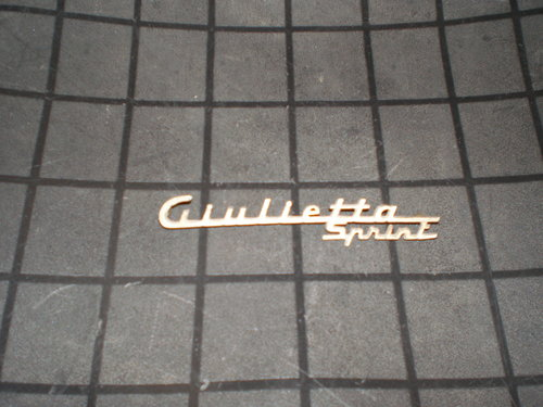 1959 Giulietta Sprint emblem For Sale (picture 1 of 2)