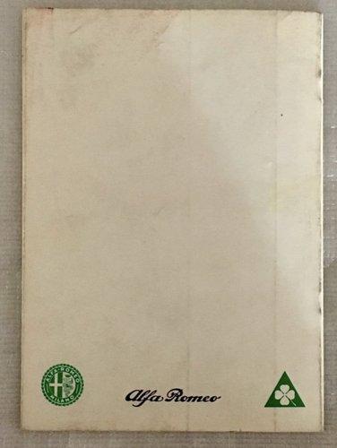 Owner's Manual Alfa Romeo Giulia Sprint GTA 1600 For Sale (picture 2 of 5)