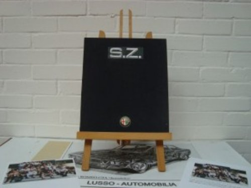 Alfa Romeo SZ brochure with authentic autographs. For Sale (picture 1 of 6)