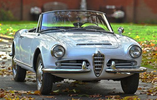 1966 Alfa Romeo Giulia Spider Convertible SOLD (picture 1 of 6)
