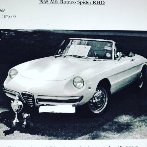 1968 RHD Alfa Romeo Giulia Spider 1300 Junior Duetto. SOLD (picture 6 of 6)