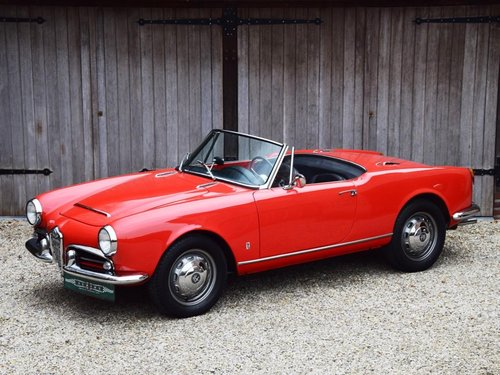 1964 Alfa Romeo Giulia 1600 Spider (LHD) For Sale (picture 1 of 6)