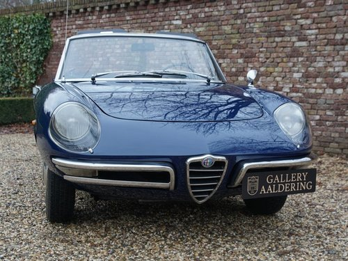 1966 Alfa Romeo Spider Duetto 1600 German car, highly original. For Sale (picture 5 of 6)