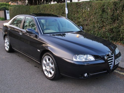 ALFA ROMEO 166 3.0 24v SPORTRONIC 2006 43700m FSH CAMBELT For Sale (picture 1 of 6)