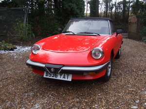 1985 ALFA SPIDER S3  2.0L ORIGINAL RHD  GREAT CAR SOLD