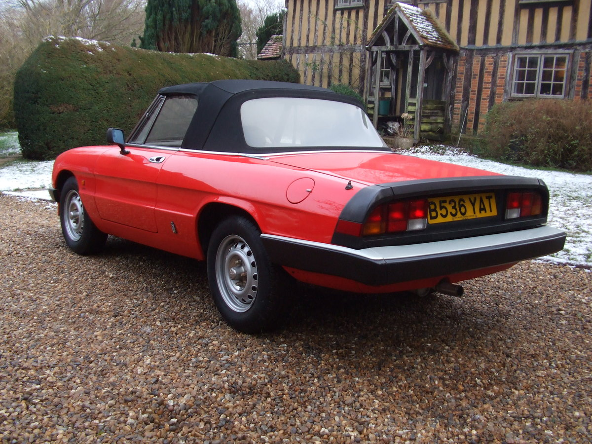 1985 ALFA SPIDER S3  2.0L ORIGINAL RHD  GREAT CAR For Sale (picture 3 of 6)