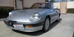 1989 Alfa Romeo Quadrifoglio Spider 2000 one owner 84,000 mi For Sale